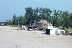 Mobilio e rifiuti abbandonati: che scempio sulla provinciale 107