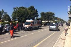 Scontro auto-moto sull'Adriatica per Santo Spirito: due feriti