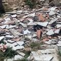 Materiale di risulta edile in località Peschiera