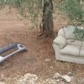 Un divano ed un paraurti nella campagne verso il Padre Eterno