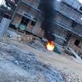 Rifiuti edili bruciati in un cantiere: l'allarme dei residenti di Contrada della Principessa