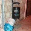 Ci risiamo: di nuovo rifiuti indifferenziati abbandonati in via Gelso
