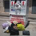 Raccoglitore di indumenti usati: scempio davanti al vecchio palasport di Giovinazzo