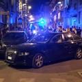 Scontro in via Firenze, coinvolte tre auto: abbattuto palo dell'illuminazione