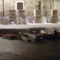 Tanta pioggia su Giovinazzo: il VIDEO dell'acqua che arriva impetuosa in cala Porto