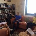Il Sindaco e l'Assessore Sollecito in visita agli studenti alla Vedetta sul Mediterraneo