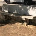 Ricomposta la panchina distrutta in piazza Porto
