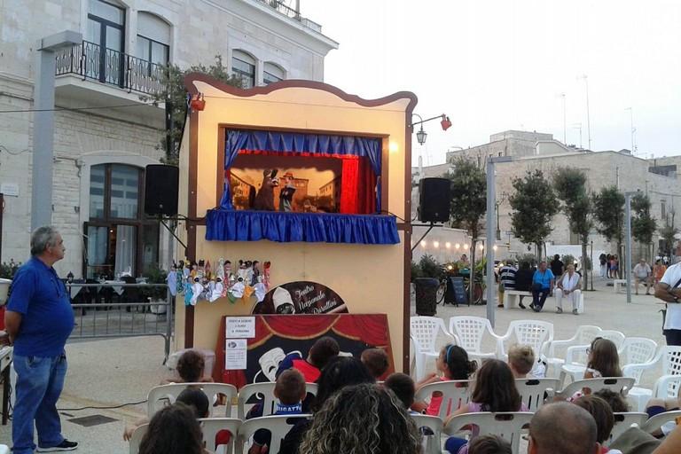 Teatro dei burattini in piazzale Leichardt. <span>Foto Gabriella Serrone</span>