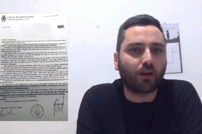 Un frame dal video-denuncia