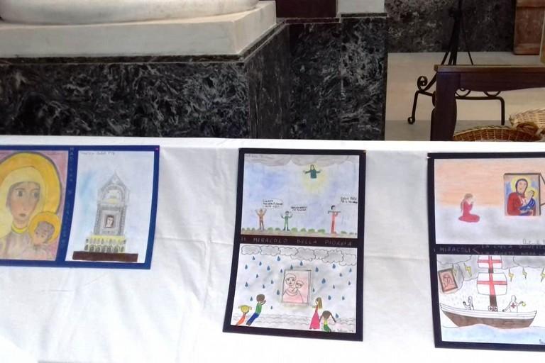 Alcuni dei disegni esposti