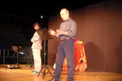 Franco Martini e Mauro Stallone sul palco. <span>Foto Gabriella Serrone</span>