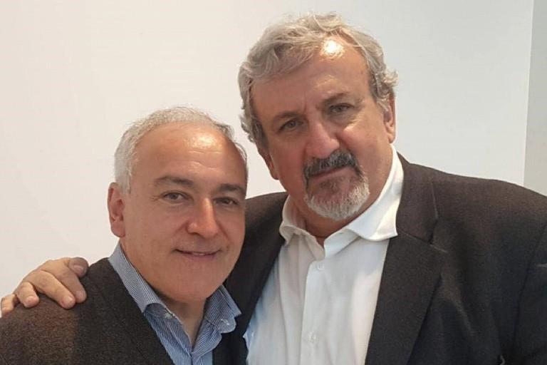 Pino Tulipani con Michele Emiliano