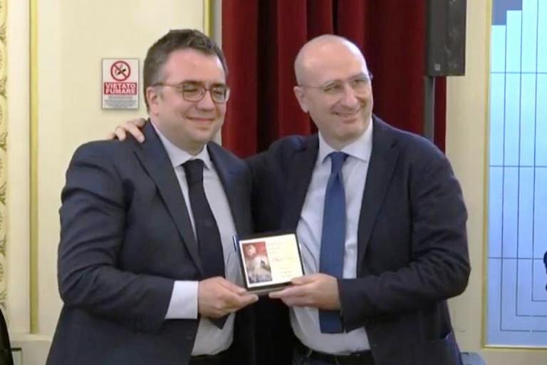 Filippo Luigi Fasano alla premiazione