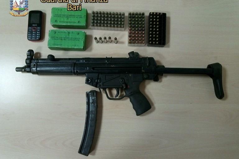 Il fucile mitragliatore sequestrato dalla Guardia di Finanza