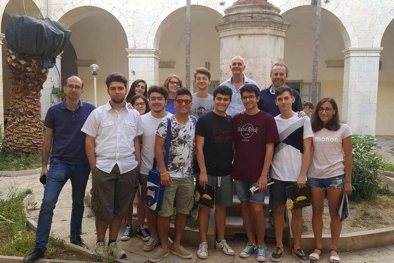 Il gruppo di studenti alla Cittadella