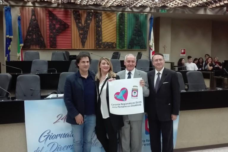 Pino Tulipani con Agostino Picicco e Annamaria Natalicchio (Foto Riccardo Resta)