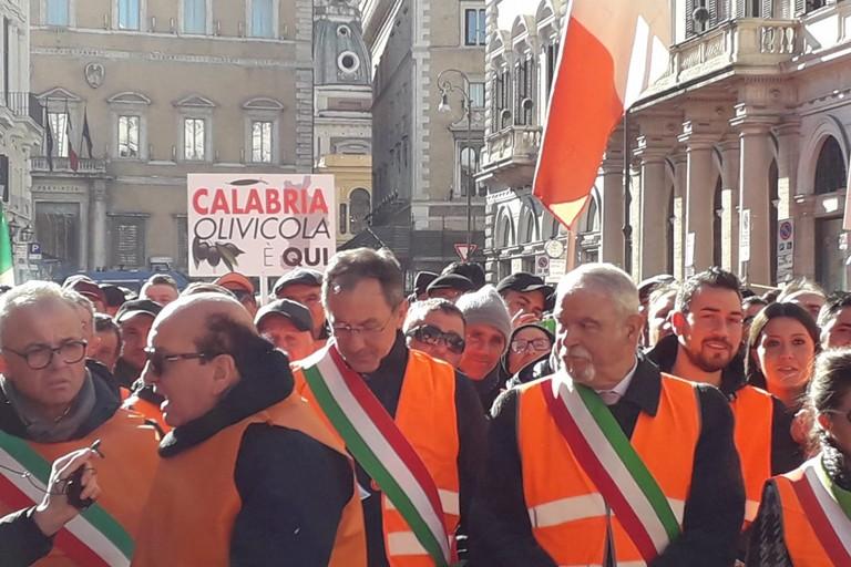 Spadavecchia a Roma durante la manifestazione