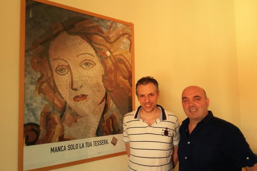 Giotti e Rizzo insieme. <span>Foto Ileana Spezzacatena</span>
