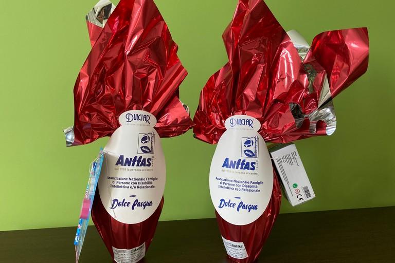 Uova di cioccolato Anffas. <span>Foto Marzia Morva</span>