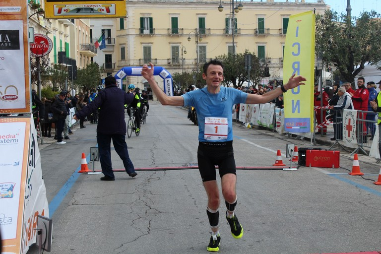 Massimo Leonardi all'arrivo. <span>Foto Gianluca Battista</span>
