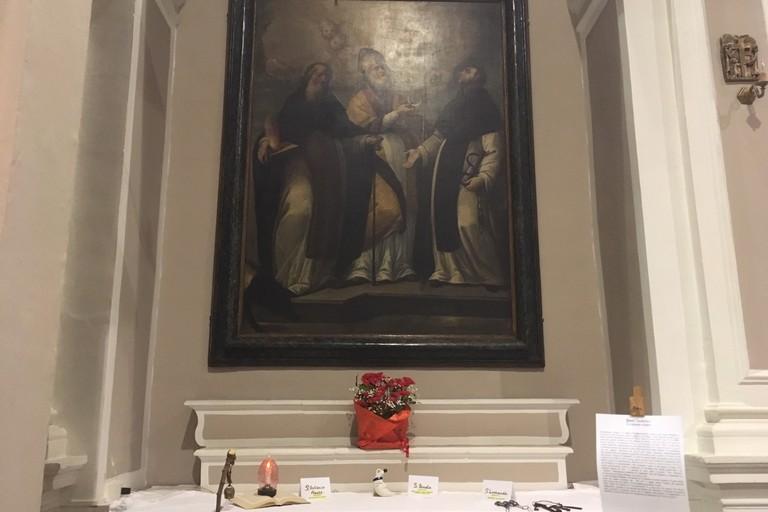 Il quadro nella chiesa di Costantinopoli. <span>Foto Marzia Morva</span>