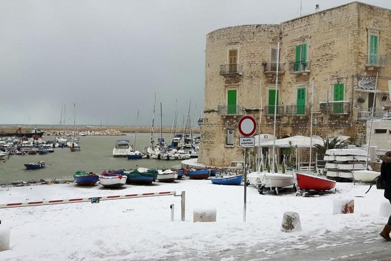 Neve in Cala Porto