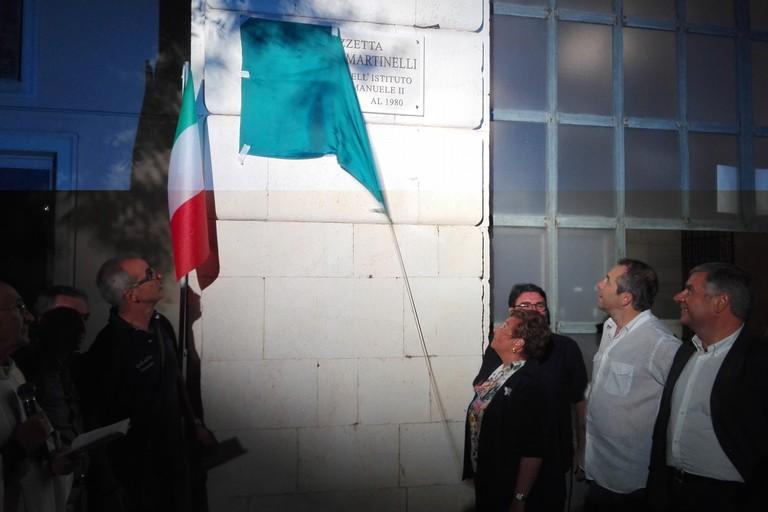 Intitolazione Piazzetta Martinelli. <span>Foto Giuseppe Dalbis</span>