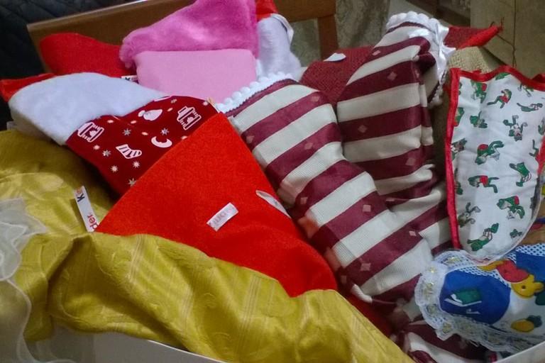 La preparazione delle calze