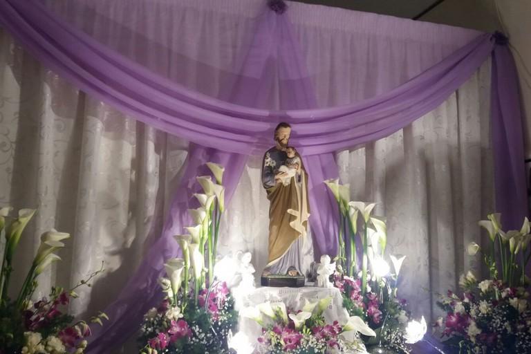 L'altarino della famiglia Cannato. <span>Foto Gianluca Battista</span>