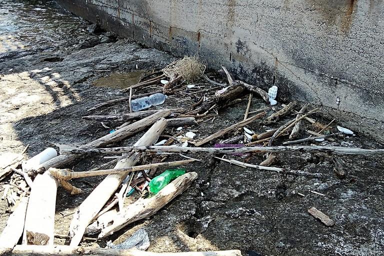 Spiagge sporche alla Trincea