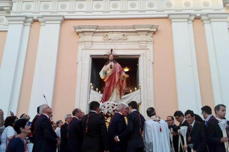 L'uscita da Sant'Agostino (Foto Giuseppe Dalbis)