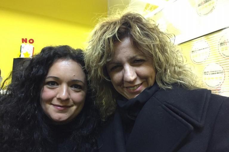 Francesca Galizia con Barbara Lezzi