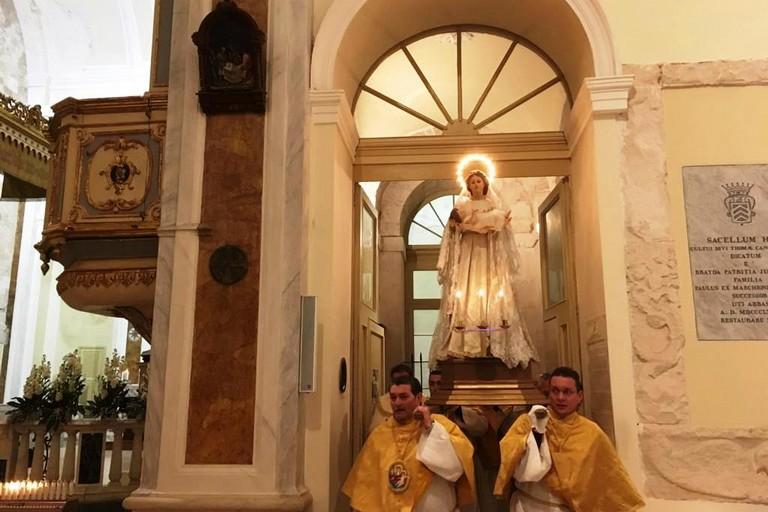 L'ingresso in Concattedrale. <span>Foto Marzia Morva</span>