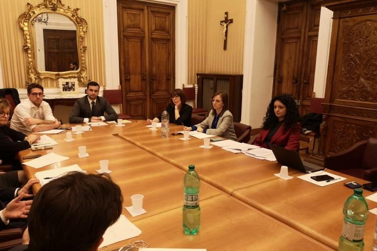 Francesca Galizia al tavolo del Ministero dell'Interno