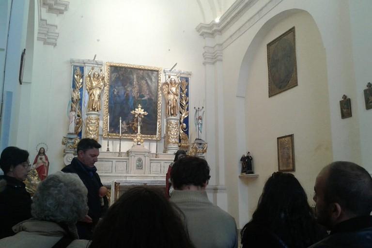 In visita alla Madonna degli Angeli. <span>Foto Gabriella Serrone</span>