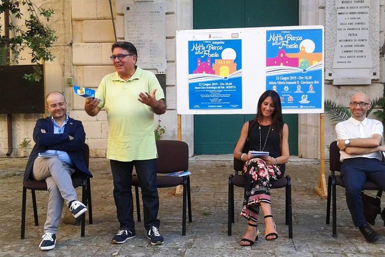 Nicola De Matteo durante il suo intervento. <span>Foto Gabriella Serrone</span>