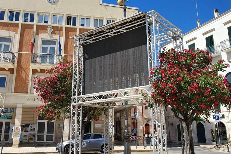 Il Jumbo screen in piazza