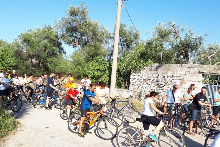 Tutti in bici per casali. <span>Foto Rino Labombarda</span>