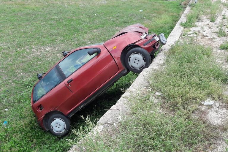 La Fiat Punto rubata a Giovinazzo