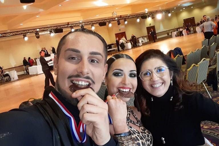 La coppia medaglia di bronzo. <span>Foto ASD Dance Team</span>