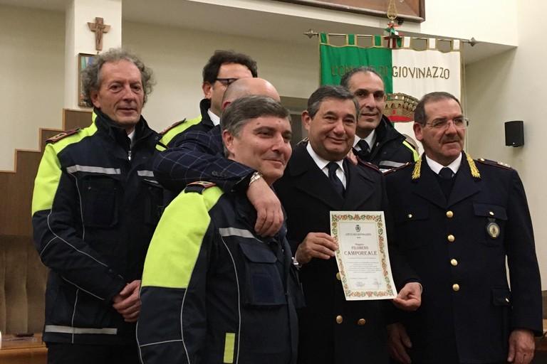 Filomeno Camporeale con i suoi colleghi