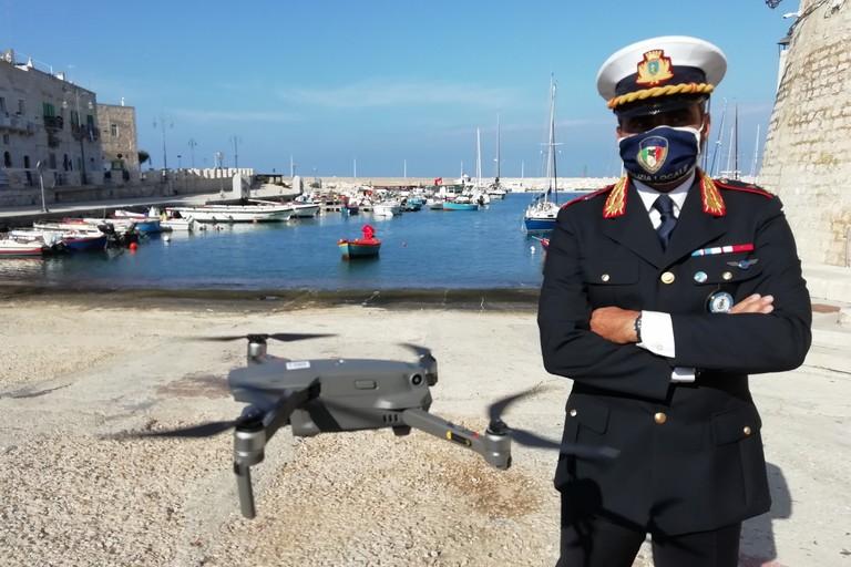 Il drone in dotazione alla Polizia Locale di Giovinazzo