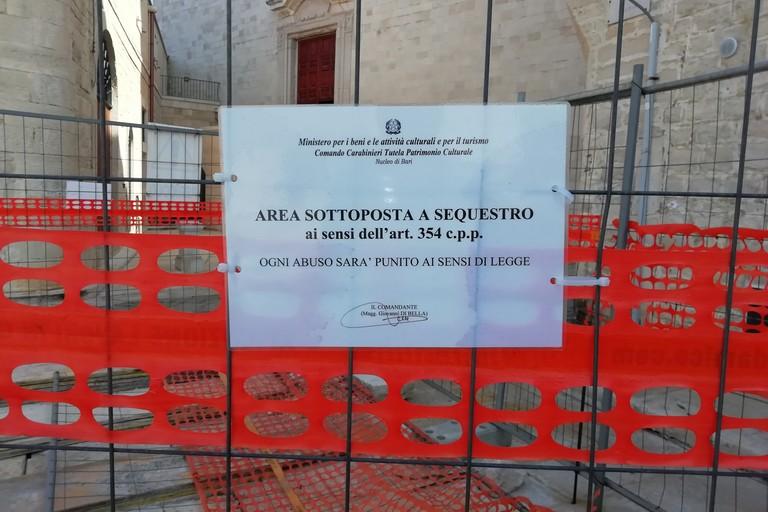 L'area archeologica sequestrata dai Carabinieri
