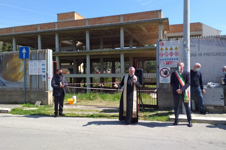 Casa della Salute - benedizione. <span>Foto Giuseppe Dalbis</span>