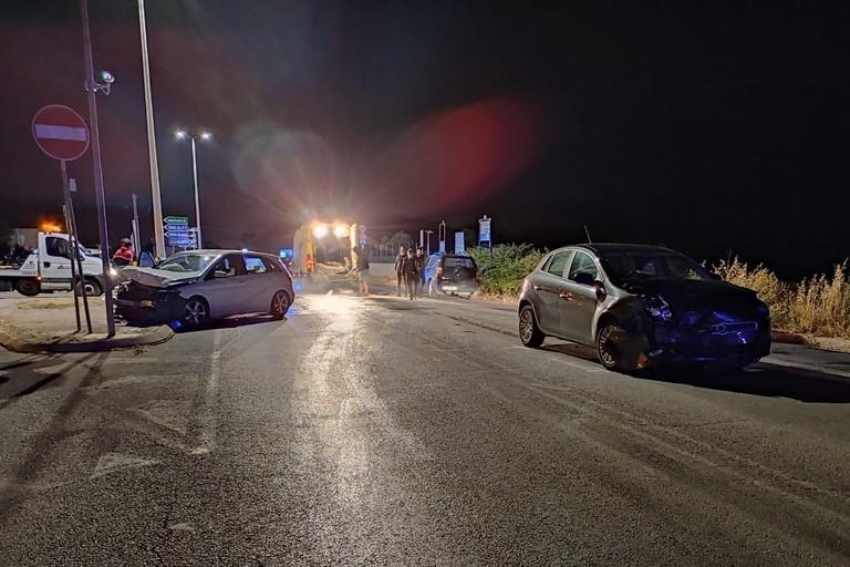 L'incidente stradale avvenuto sulla litoranea Giovinazzo-Molfetta