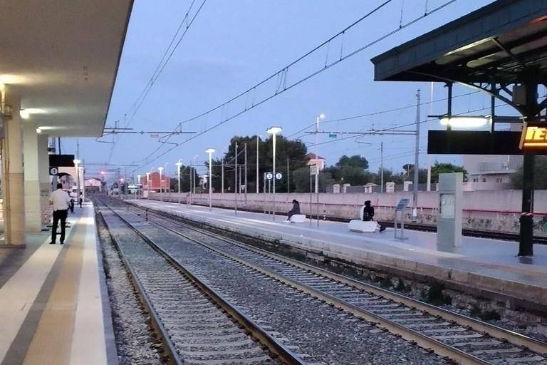 I rilievi alla stazione di Giovinazzo