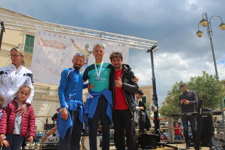 Il podio maschile. <span>Foto Gianluca Battista</span>