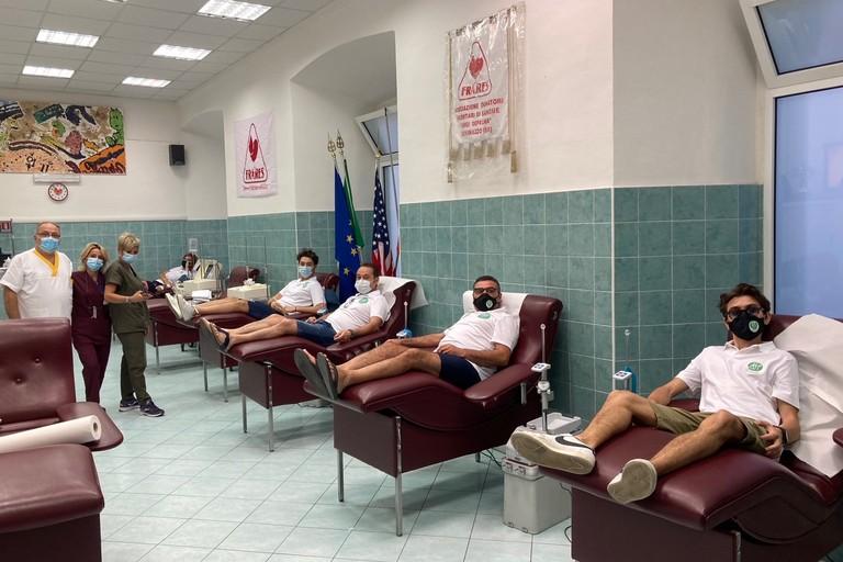 Donazione sangue per l'AFP Giovinazzo. <span>Foto Marzia Morva</span>