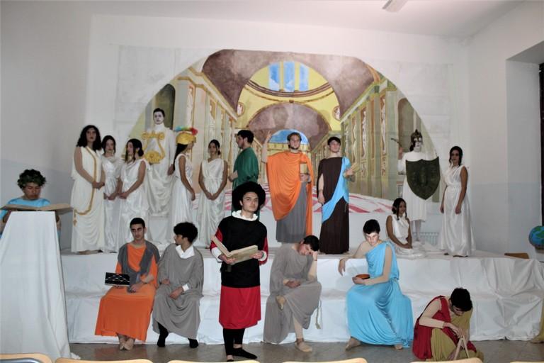 Tableau Vivant: La scuola di Atene. <span>Foto Gianluca Battista</span>