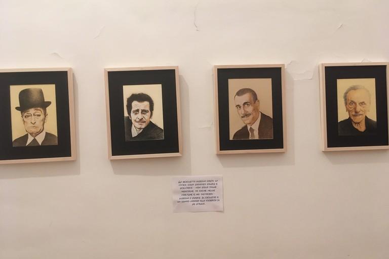 Alcune opere esposte. <span>Foto Marzia Morva</span>